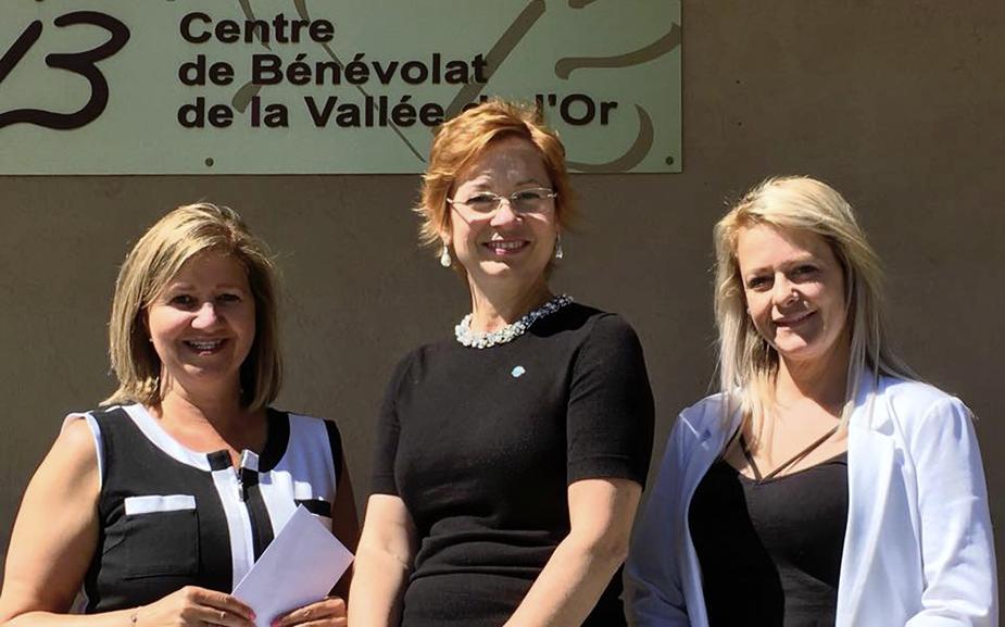 Un don au Centre de Bénévolat de la Vallée-de-l'Or
